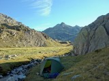 First camp in the Respomuso basin (Spain)
