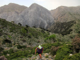 Heading towards the katseveli hut in Lefki Ori