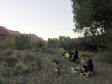 Our camp at 'Wilson ranch' which we hoped would have a spring but it was dry