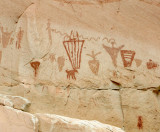 Pictograph panel in Horseshoe canyon