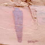 Horseshoe canyon Great Gallery- figure with dog