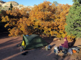 Oct 2016 Utah Salt Creek canyon 1st camp at park campsite SC1