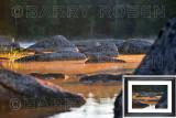Lake Rocks at Sunrise M14_1995 (Green Lake, Maine)