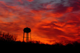 Sunrise with Water Tower Foreground