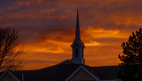 Sunset over Mormon Church