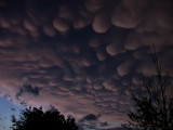 Mammatus Clouds of a SuperCell Storm