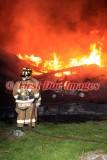 Thompson CT - Barn fire; 1066 Quaddick Town Farm Rd. - May 15, 2016