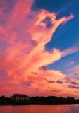 Crimson Clouds at Sunset