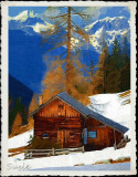 Cabin in the Snow by Susie  --  March, 2016