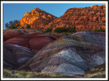 Chinle Formations at Sunset