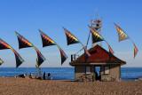 stacked Revolution kites and Leuty Station