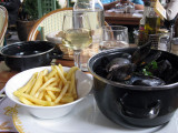 Moules with fries Chez Clement