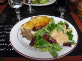 Duck parmentier at a restaurant at