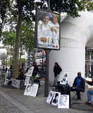 Selling art in front of the Pompidou