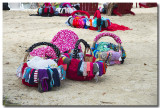 Paniers à maillots de bains , plage Accul