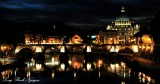 St Peter's Cathedral, Sant Angelo Bridge, Tiber River, Rome, Italy