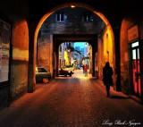 east gate of Tarquinia, Italy