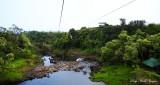 On the zipline over river