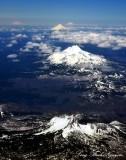 Three Fingered Jack, Mt Washington, Mt Hood, Mt Adams, Mt Rainier, Cascade Mountains Range