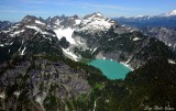 Columbia Peak, Columbia Glacier, Blanco Lake, Monte Cristo, Glacier Peak, Washington