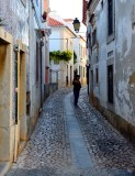 narrow street, Cascais, Portugal