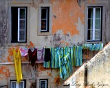hanging laundry,  Sintra, Portugal