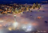 Seattle shrouded in Fog, Washington