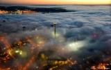 Space Needle, West Seattle, Shroud in Fog, Seattle