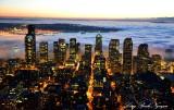 Fog is back, West Seattle, Seattle, Olympic Mountains, Washington