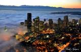 Seattle in Fog Washington