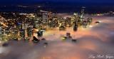 Downtown Seattle Approaching Fog Washington