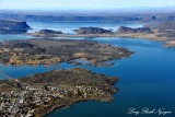 Final approach to Grand Coulee Dam Airport, Banks Lake, Steamboat Rock, Electric City, Washington