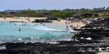 Swimmers, Kua Bay, Kekaha Kai State Park, Kailua-Kona, Big Island, Hawaii