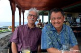 Dave Hein and Me, Sam Choys Restaurant, Kailua-Kona, Hawaii