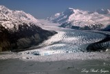 Inner George Lake, Colony Glacier, Mount Muir, Chugach Mountains Range, Alaska