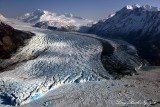 Colony Glacier, Inner Lake George, Mount Gilbert, Mount Muir, Chugach Mountains Range, Alaska