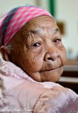 Beautiful face at 100 years old