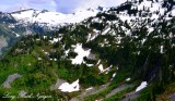 Waterfalls on Mount Lennox, Cascade Mountains, Washington