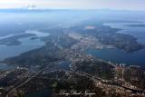 Seattle, Puget Sound, Mount Rainier, Mt Adams, Mt St Helens, Washington