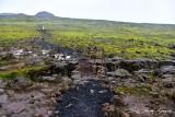 Crossing the fault line, Thirhnukagigur Volcano, Iceland