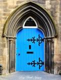 Blue Door Edinburgh Scotland UK
