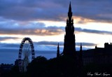 Scott Monument Ferries Wheel Edinburgh UK