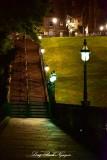 Steps to The Mound Edinburgh Scotland UK