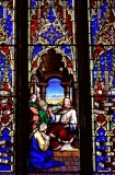 Stained Glass in St Johns Cathedral Edinburgh Uk