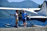 Stephen and Bob at Nahmint Lake Vancouver Island Canada