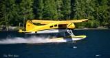 Doug departing on Nahmint Lake