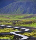 winding road Blafjoll Mountain, Iceland