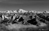 Glacier Peak and the Moon Washington
