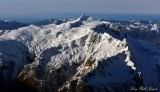 Mt Shuksan, The Hourglass, Summit Pyramid, Nooksack Tower, Jagged Ridge, Sulphide Glacier, Crystal Glacier, Washington