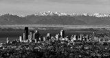 Downtown Seattle, Space Needle, Smith Tower, Puget Sound, Olympic Mountains, Washington